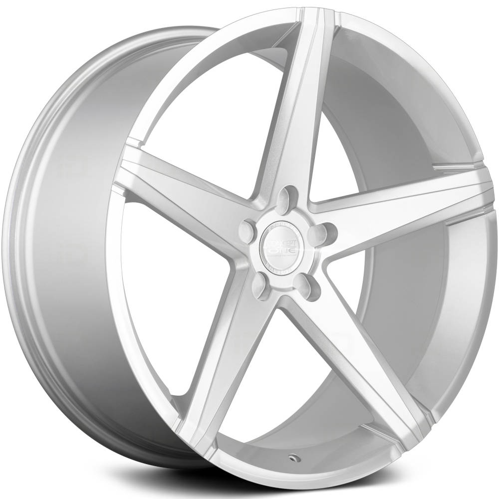 Concept One CSM-002 Silver with Machined Spoke Faces and Outer Lip 22x10.5 25