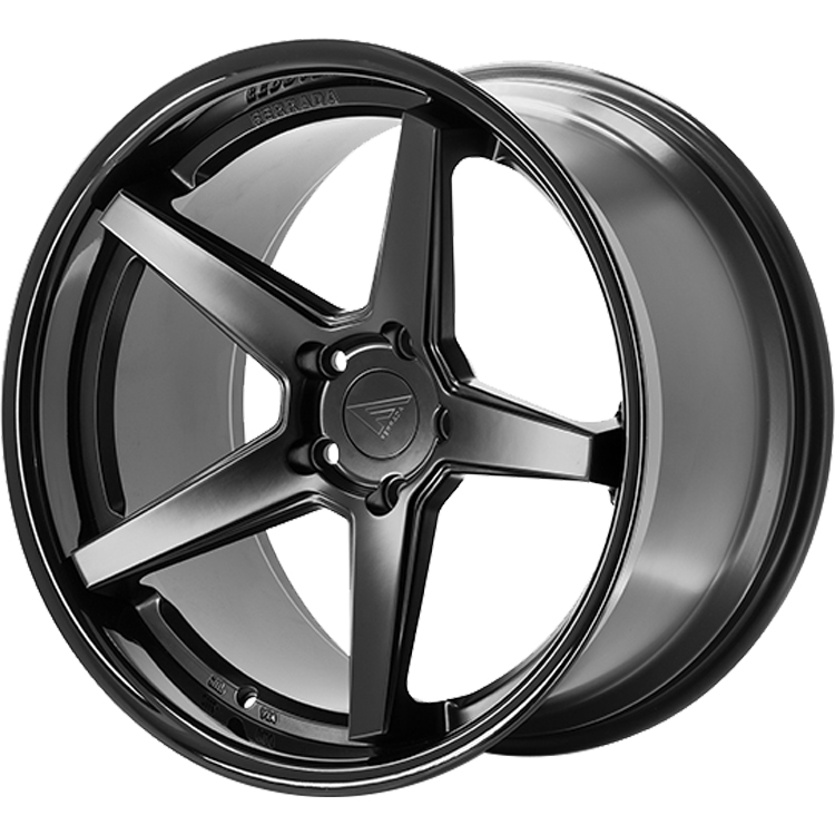 Ferrada FR3 Gloss Black with Matte Black Spoke Faces 22x9.5 12