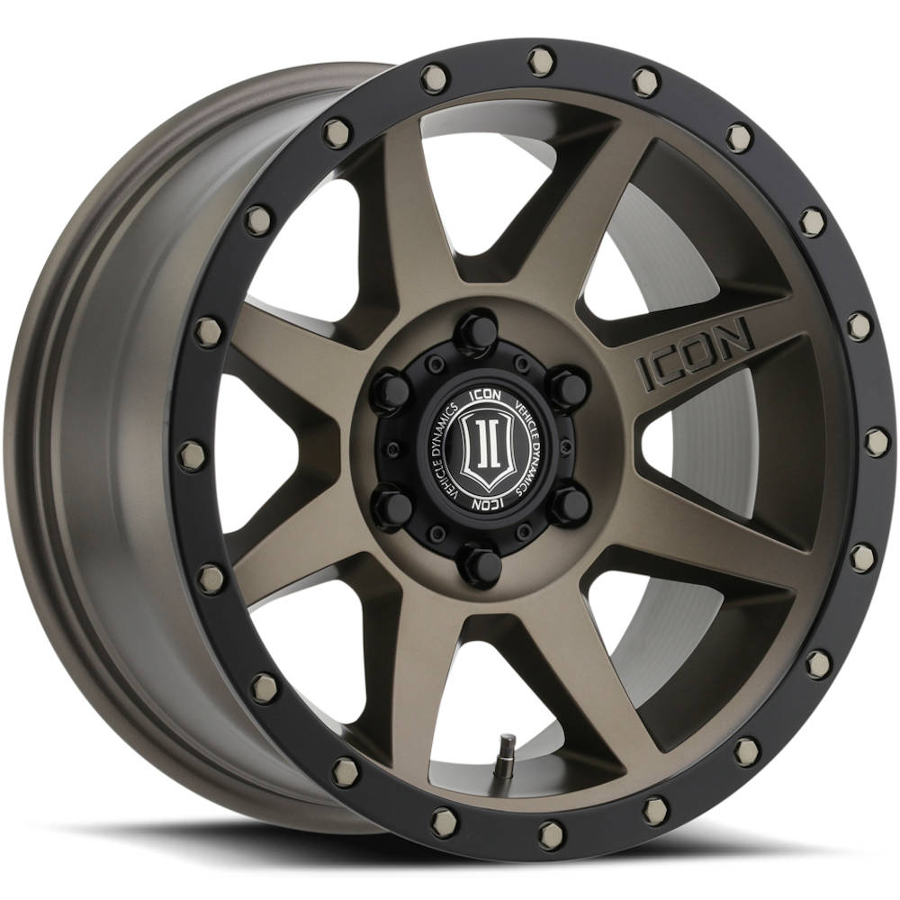 Icon Alloys Rebound Bronze with a Black Simulated Beadlock 18x9 +25mm
