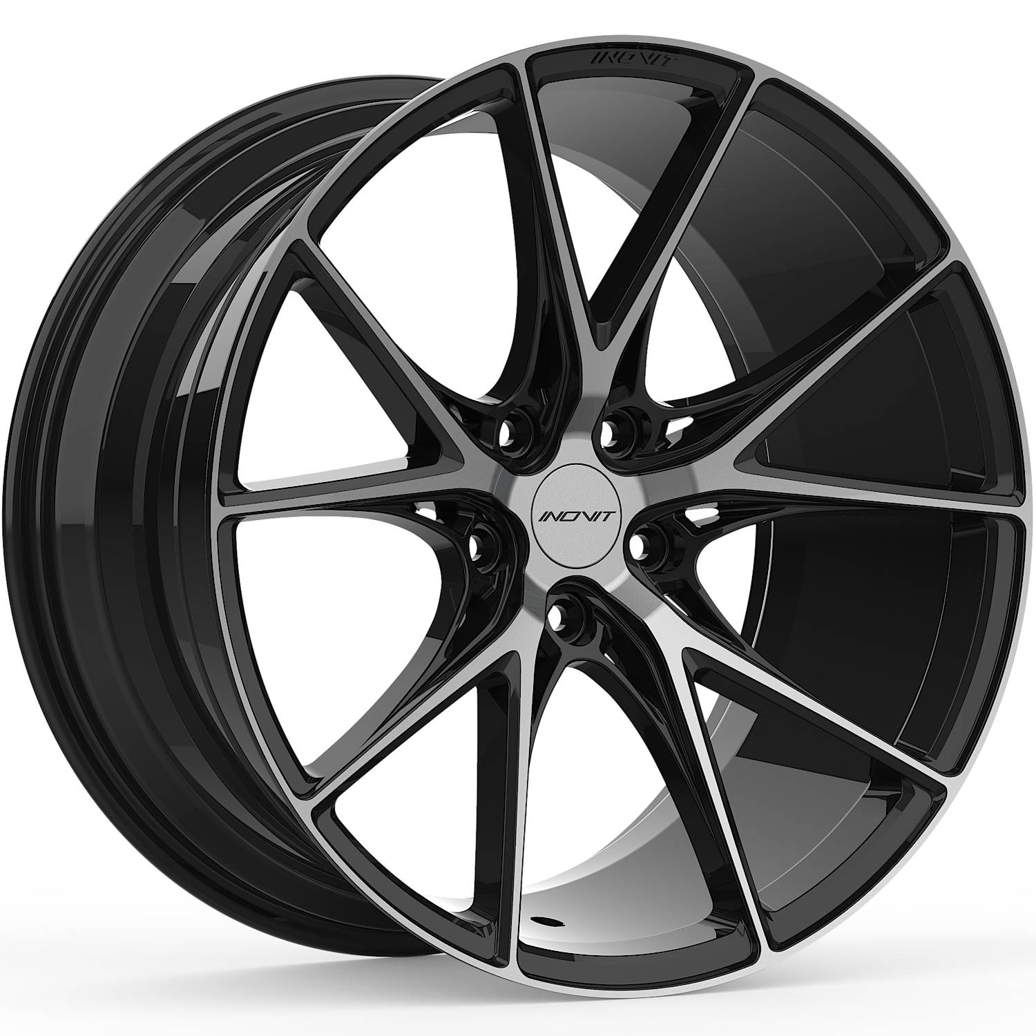 Inovit Speed Satin Black with Machined Spoke Faces and Dark Tint19x9.5 +40mm