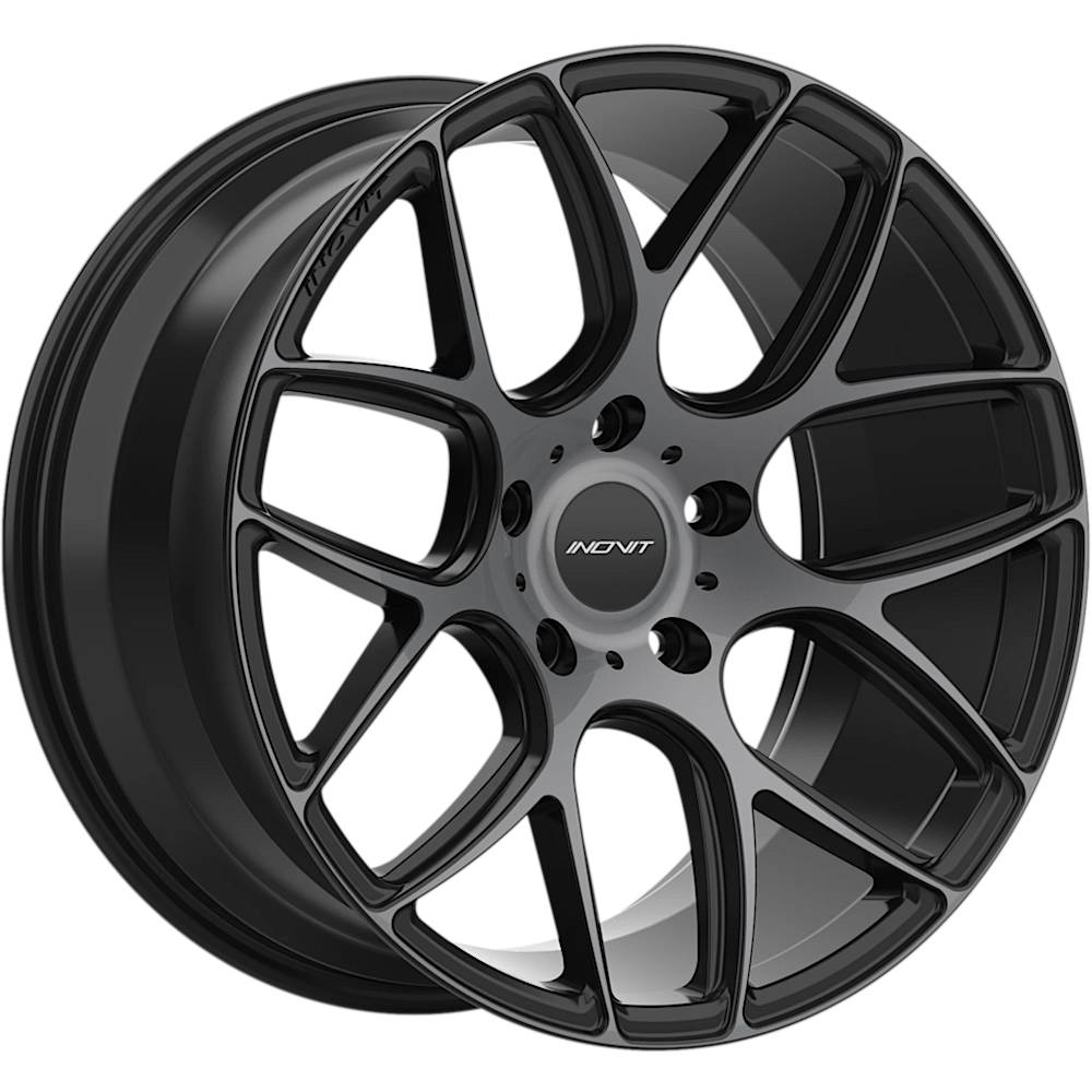 Inovit Thrust Black with Machined Spoke Faces with Dark Tint20x8.5 +37mm