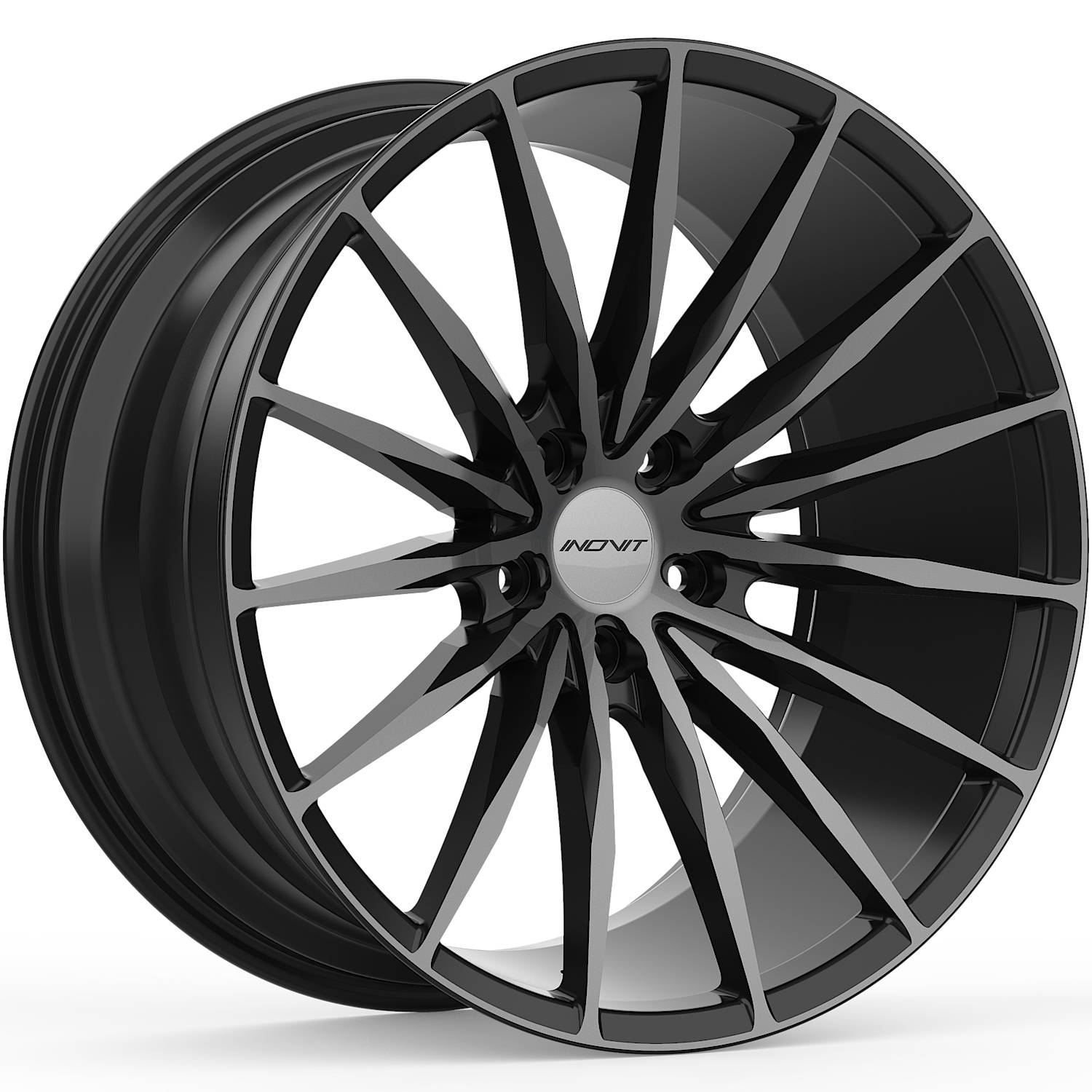 INOVIT Torque Satin Black with Machined Spoke Faces and Dark Tint19x8.5 +38mm