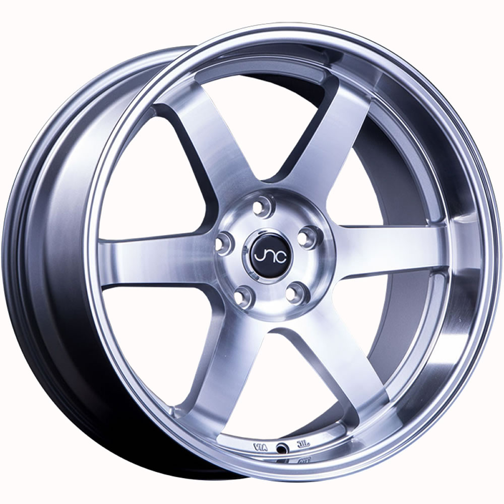 JNC JNC014 Silver with Machined Spoke Faces and Lip 19x9.5 30