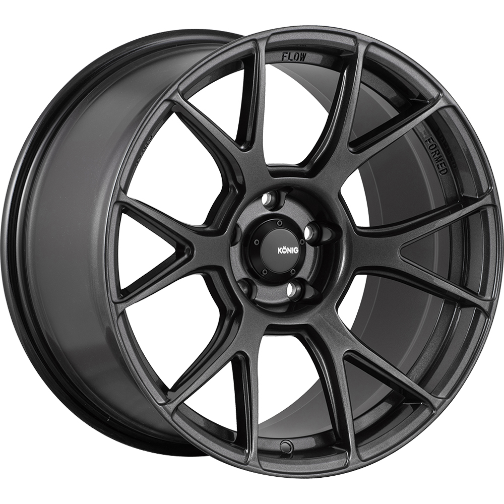 Konig Ampliform Dark Metallic Graphite Gray 20x8.5 43
