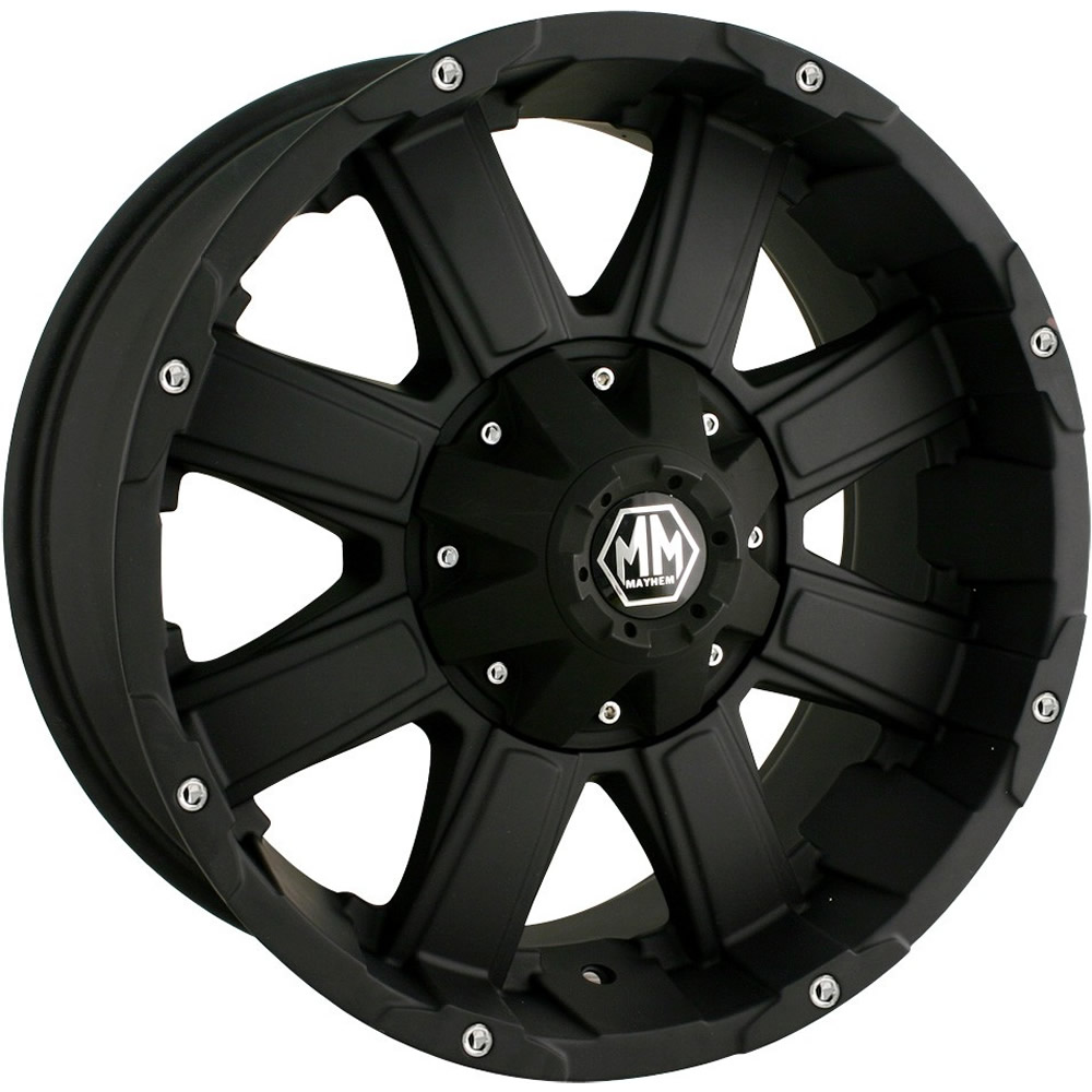 Mayhem Chaos Matte Black 20x9 -12mm