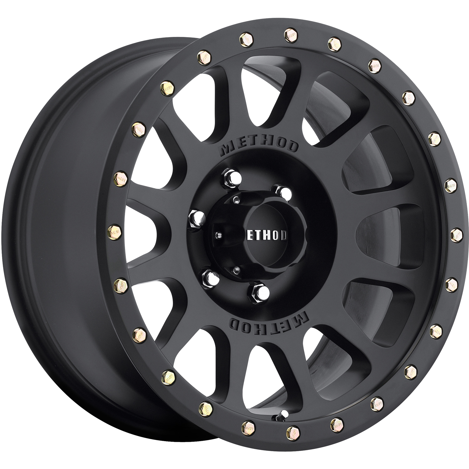 Method NV Matte Black with Simulated Bead Lock 18x9 -12