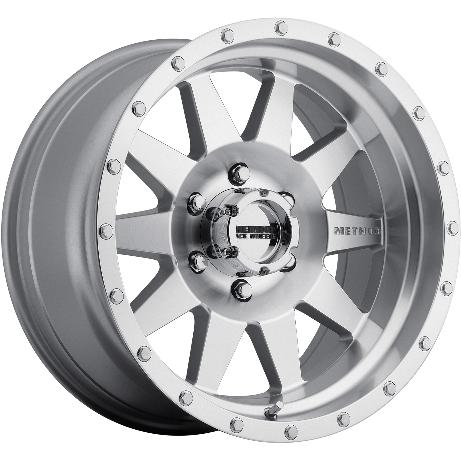 Method The Standard Machined Diamond Cut Silver with Clear Coat and Simulated Bead Lock 18x9 18