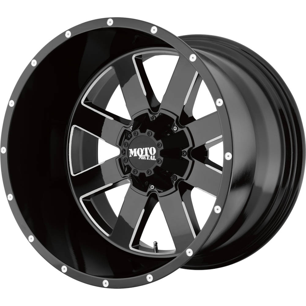Moto Metal MO962 Gloss Black with Milled Accents 17x10 -24