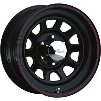 Pacer Black Daytona 15x10 38 Custom Wheels