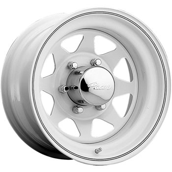 Pacer White Spoke 15x8 19 Custom Wheels