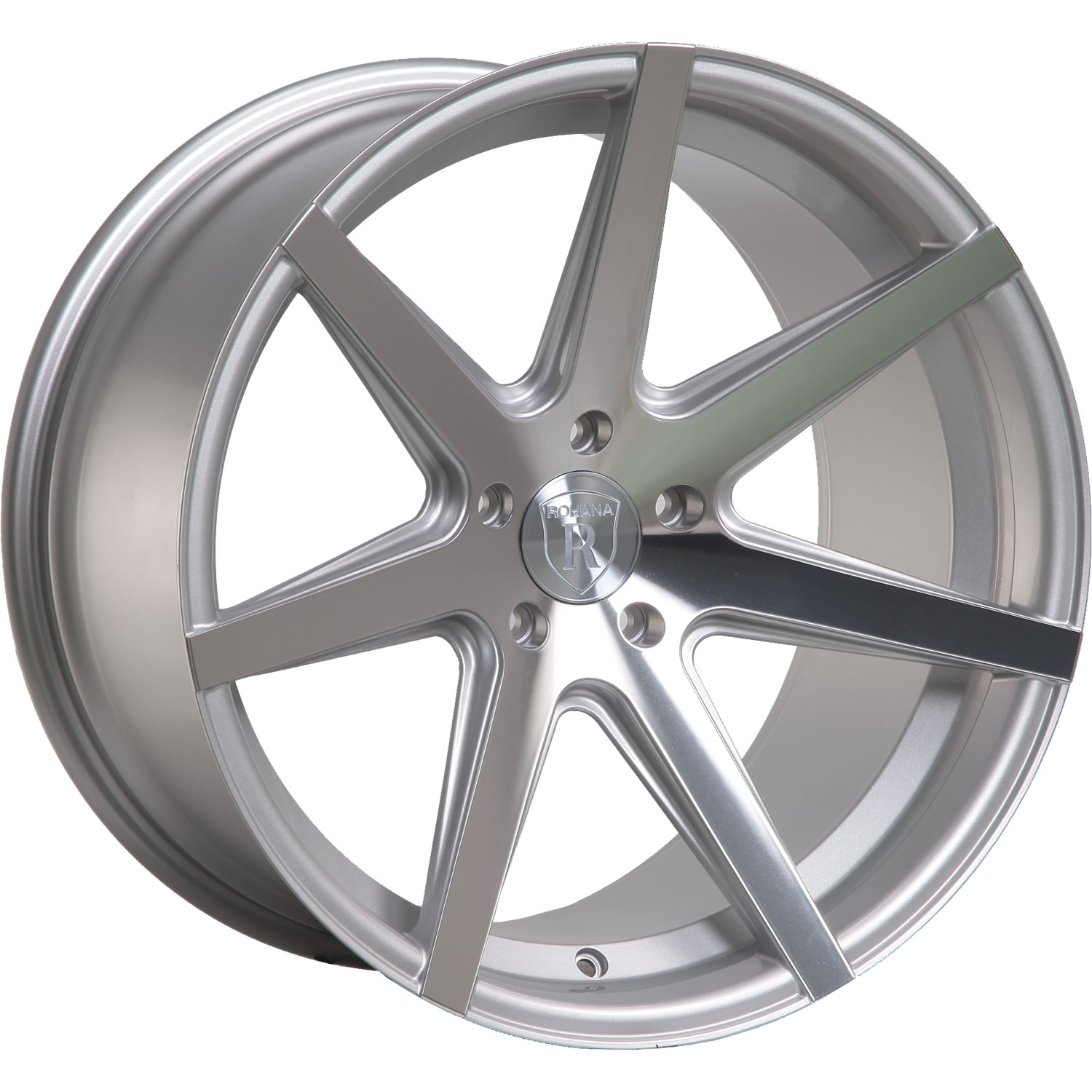 Rohana RC7 Silver with Machined Spoke Faces 19x8.5 33
