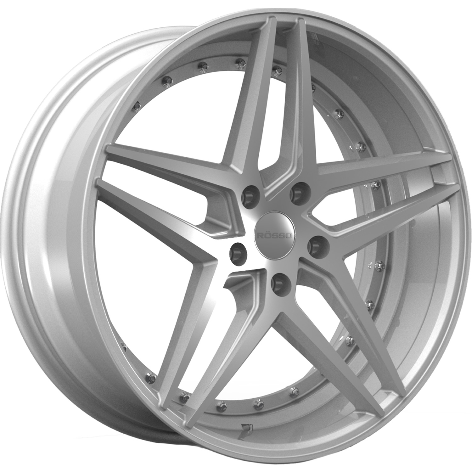 Rosso Reactiv Silver with Machined Spoke Faces 22x10.5 40