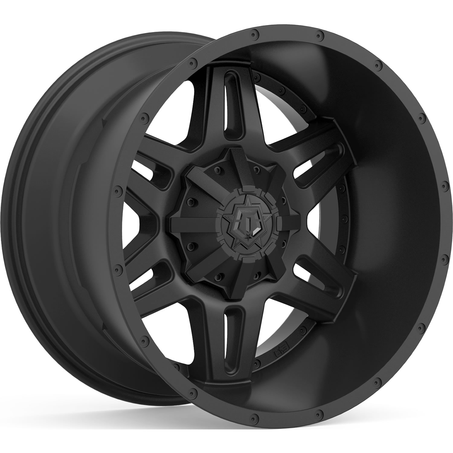 TIS 538B Satin Black 18x9 -12mm