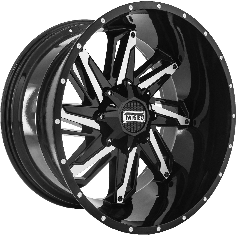 Twisted Offroad Razor 22x12 44 Custom Wheels