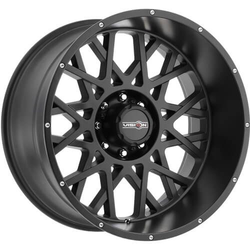 Vision Rocker Satin Black 18x9 +12mm