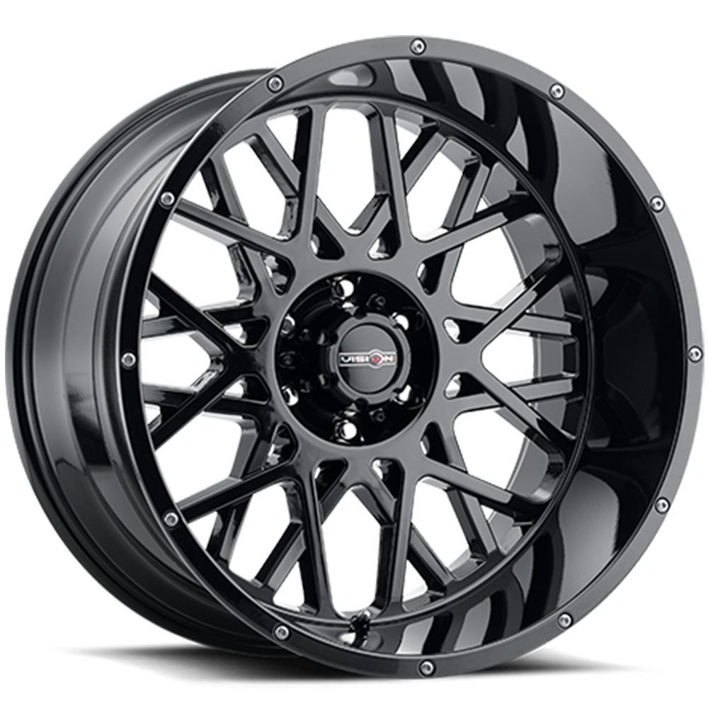 Vision Rocker Gloss Black 18x9 +12mm