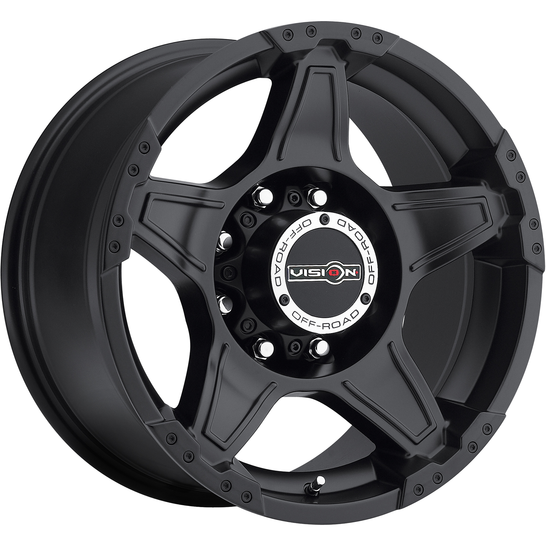 Matte Black Vision Wizard 18x9 25 Cooper Cs3 Touring 235 55 R18