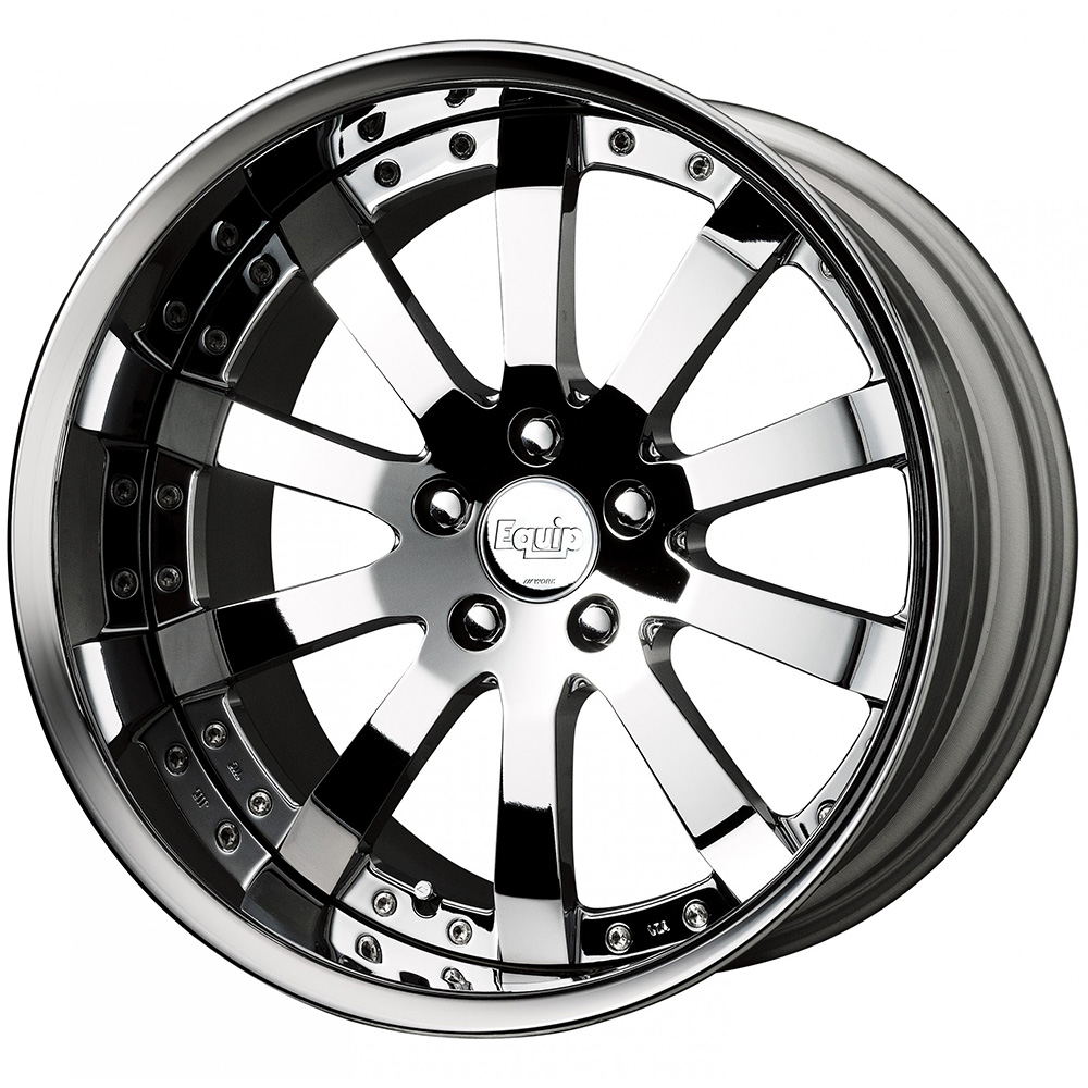 Work Equip E10 Super Chrome with a Chrome Lip and Exposed Hardware 22x11.5 39