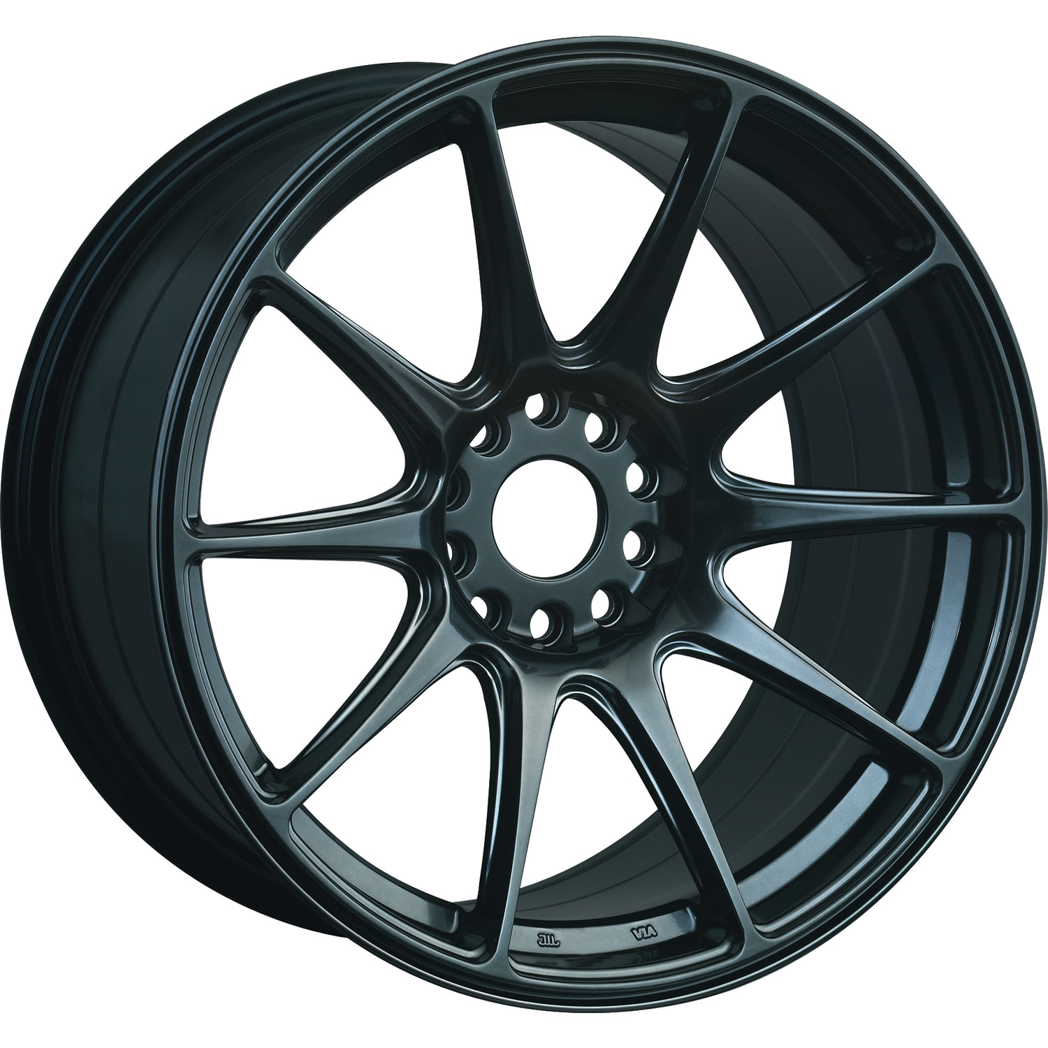 XXR 527 Chromium Black18x8.75 +35mm